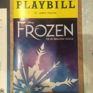 Frozen Broadway Playbill